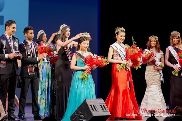 加拿大多倫多華裔女子林耶凡(Anastasia Lin)成功榮獲2015年度世界小姐加拿大區冠軍。(林耶凡提供)