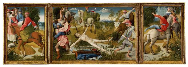 「弗萊芒大師」(Flemish Master),《聖希玻里的殉道》(The martyrdom of Saint Hippolytus),約1480年,板上蛋彩與油彩畫,波士頓美術館藏。(波士頓美術館官網)