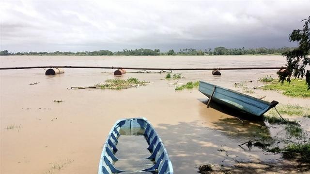 斐濟剛遭遇史上最強烈的熱帶氣旋溫斯頓侵襲,造成嚴重破壞。2月21日,斐濟開始大規模的清理。(KRIS PRASAD/AFP)