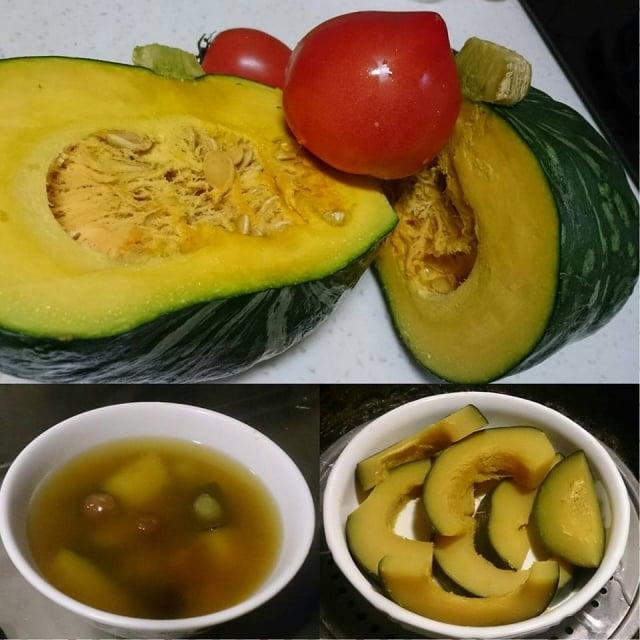 「栗子南瓜」與牛番茄烹調容易。(吳家晴提供)