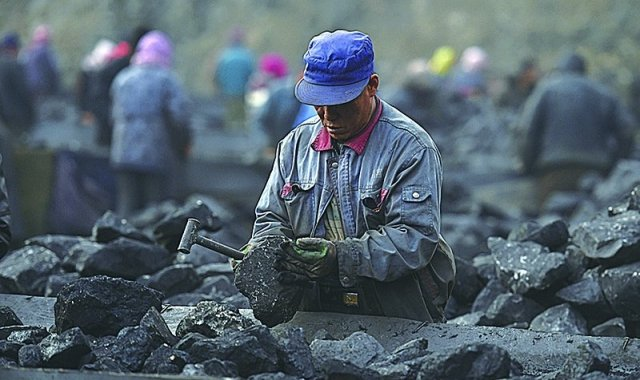 山西省7大國有煤炭集團去年前三季度負債總額超過1兆元人民幣。(AFP)