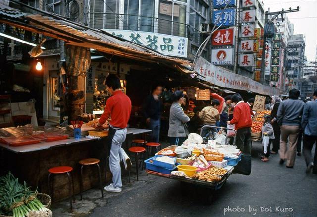 1984年台北市集。(Doi Kuro提供)