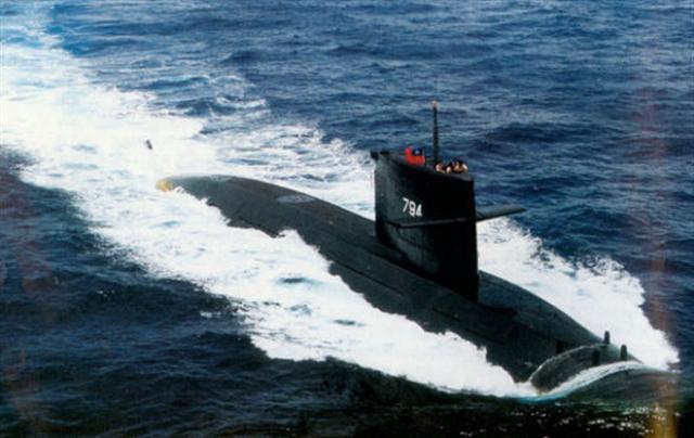 我國的潛艦。(中央社)