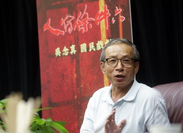 吳念真原訂今年3月赴中國巡演5年的舞台劇,被主辦方建議延後合作。圖為資料照。(中央社)