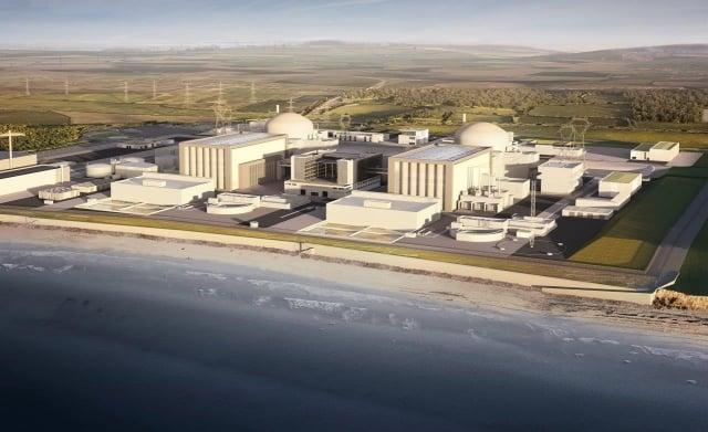 中國廣核集團出資60億英鎊,持有英國辛克利角C核電廠33.5%股權。(辛克利角提供)