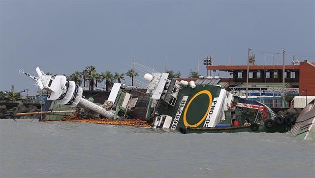 強颱莫蘭蒂給南台灣帶來嚴重災情。(Getty Images)