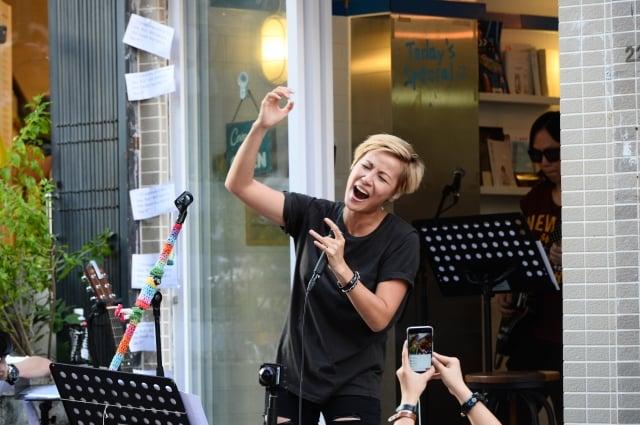 香港藝人何韻詩因2014年「雨傘運動」敢於挑戰中共政權,促成她入選百大女性之列。(大紀元資料室)