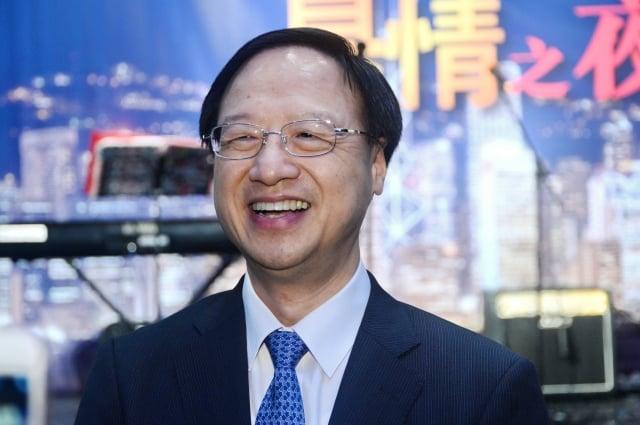 前行政院長江宜樺,非常支持邀請神韻藝術團赴香港演出,把正向、善良的力量帶給香港社會。(記者宋祥龍/攝影)