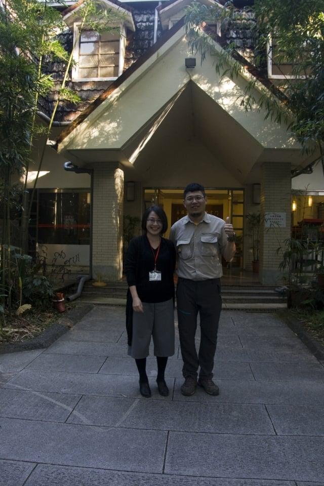 顧雅文(右)與楊智凱(左)。(記者彭秋燕/攝影)