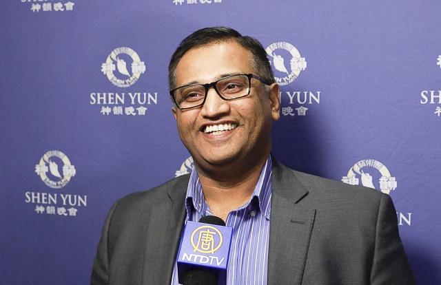 寶萊塢電影業製片人、企業家Ravi Kashyap。(新唐人電視台提供)