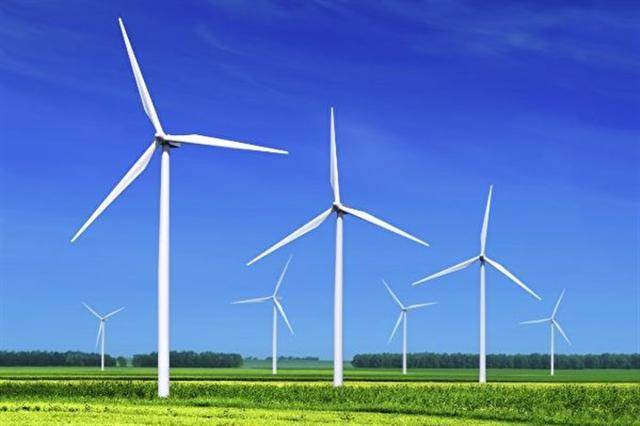 圖為亞馬遜公司在美國北卡州的風力電廠,主要用於因應現在和未來的 AWS 雲資料中心的用電需求。(亞馬遜公司)