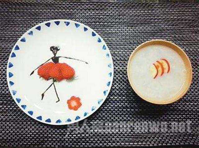 漂亮的早餐,令女兒不忍心下口。(網路圖片)