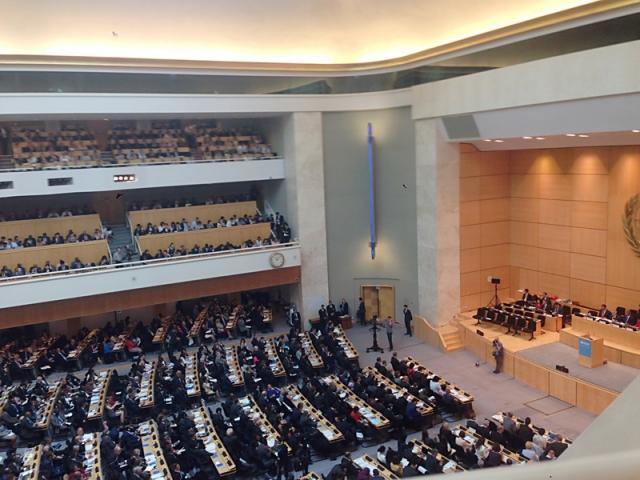 中共致函各國常駐瑞士日內瓦代表團,干擾我參與世界衛生大會(WHA)。(中央社)