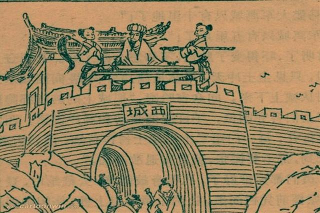 一提到「空城計」,人們馬上會想到最廣為人知的《三國演義》第95回馬謖拒諫失街亭,武侯彈琴退仲達的故事。(網絡圖片)