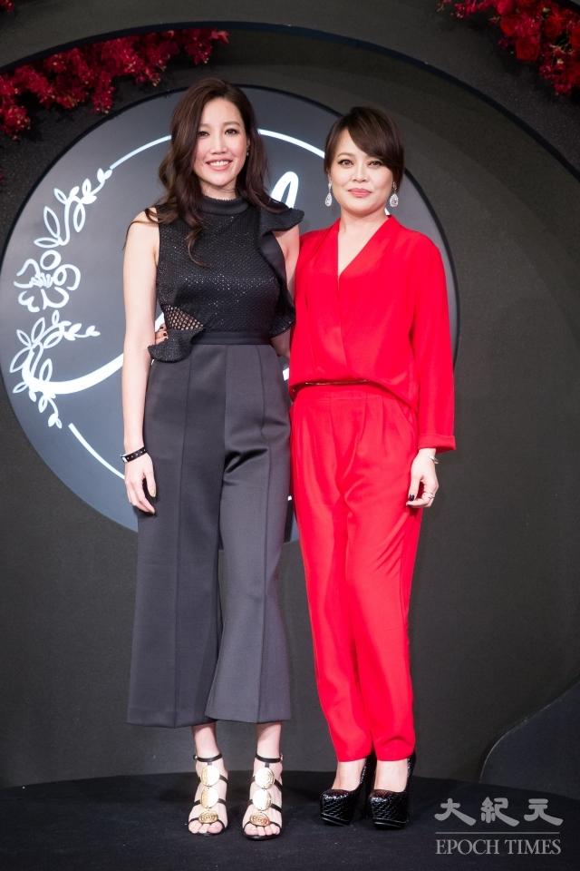 A-Lin(左)和戴愛玲(右)。