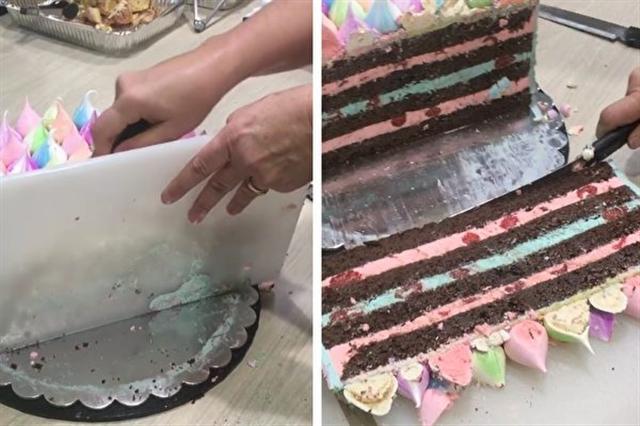 如果讓蛋糕足夠全辦公室的人分享?澳洲甜品女王巧用砧板輕鬆實現。