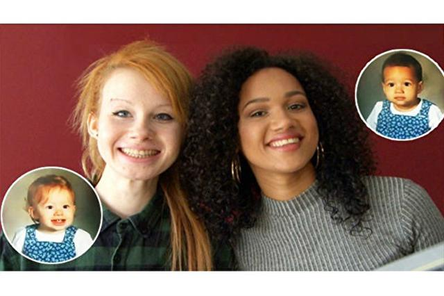 這對雙胞胎姐妹,露西(左)比較內向,穿著和作風偏休閒;瑪麗亞則爽朗外向,喜歡時尚。(影片截圖/大紀元合成)