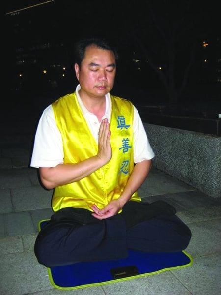 前台北市警察張永祥。(明慧網)