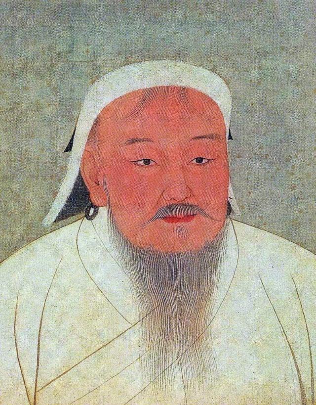元太祖皇帝像。臺北國立故宮博物院藏。