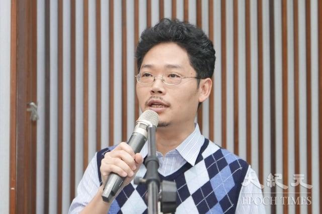 政治大學東亞研究所助理教授王韻表示,中共的統戰滲透輸出的「紅色價值」,其與普世價值之間的爭奪戰,已成為未來兩岸關係的重點。(記者郭曜榮/攝影)