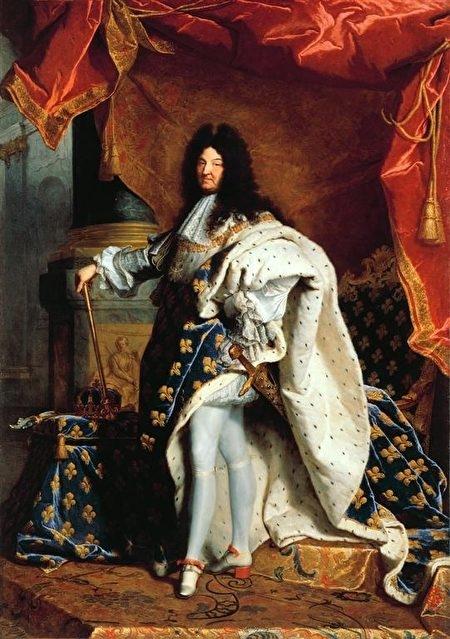 路易十四肖像畫。(維基百科)