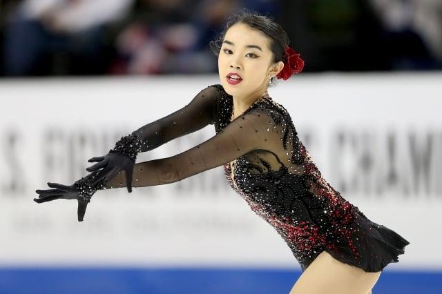 台裔小將陳楷雯在2018年美國花式溜冰錦標賽中奪下銅牌,並入選美國代表隊出征平昌冬奧。(Getty Images)