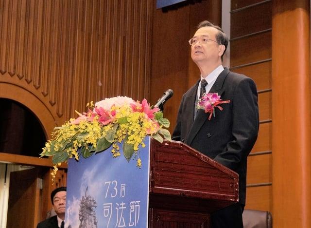 司法院長許宗力11日表示,國民法官制度對台灣來說是新制度,希望能藉此讓國民了解法律與司法。(中央社)