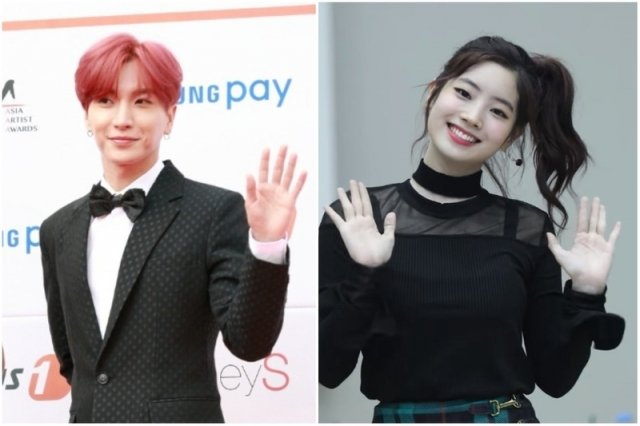 第7屆Gaon Chart K-POP大獎,將由Super Junior利特(左)及TWICE多賢(右)擔任主持人。(記者全景林攝影,網路影片擷圖/大紀元合成)