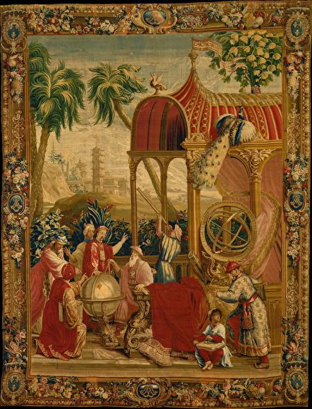 18世紀波威壁毯第一套之「天文學家」(Astronomer)。(維基百科)