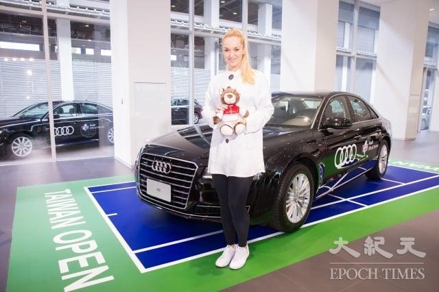 德國女網選手Sabine Lisicki 1月26日在台北出席2018WTA台灣公開賽選手見面會。(記者陳柏州/攝影)