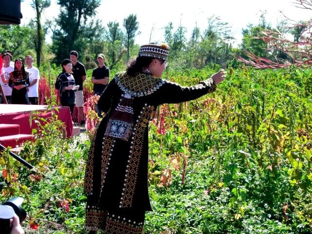原住民巫師為台東紅藜季祈福。