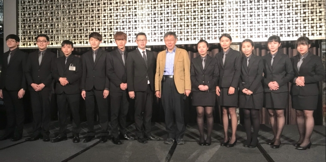 健行科大臺北市館公會72周年晚宴健行科技大學餐旅管理系接待。(健行科大提供)