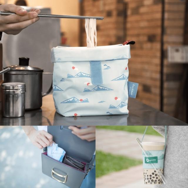 輕巧方便攜帶的食物袋與飲料提袋。