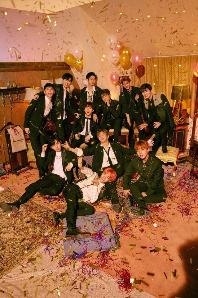 Wanna One於3月19日推出迷你二輯《0+1=1 (I PROMISE U)》。(華納音樂提供)