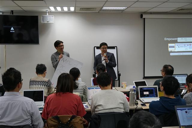 Jason在台灣唯一的美股分享社群—VIC學院,發現難得的分享文化。(VIC價值投資學院提供)