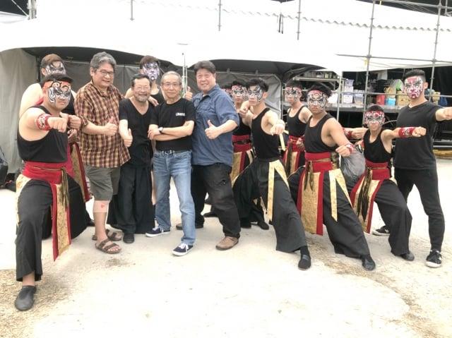 《人間條件》系列是吳念真(中左)導演第一部舞台劇作品。(桃園文化局提供)