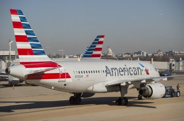 美國白宮嚴厲批評中共要求外國航空公司改變對台灣、香港和澳門稱呼的做法。圖為美國航空客機。(SAUL LOEB / AFP)