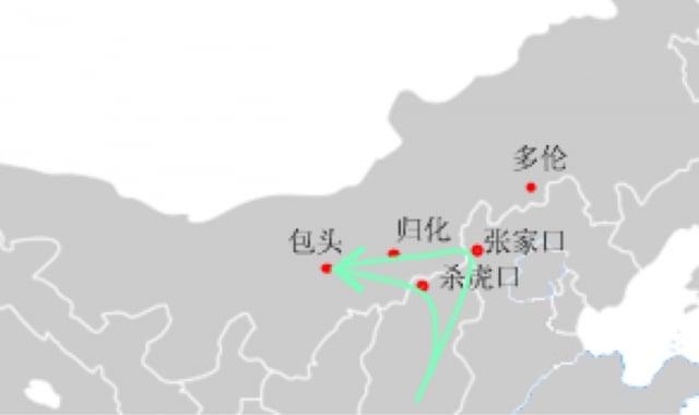 晉人闖關,闖過的最大一關就是走西口。當初的西口位於山西省雁門關北邊的一道長城關隘,名叫殺胡口(後改為殺虎口)。圖為雁門關。(維基百科)