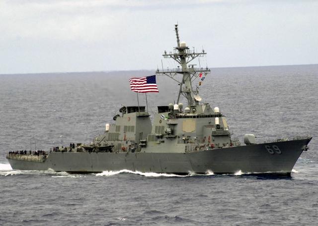 美國海軍最先進的導彈驅逐艦之一「米利厄斯號驅逐艦」抵達日本。(Daniel J. McLain/維基百科公有領域)