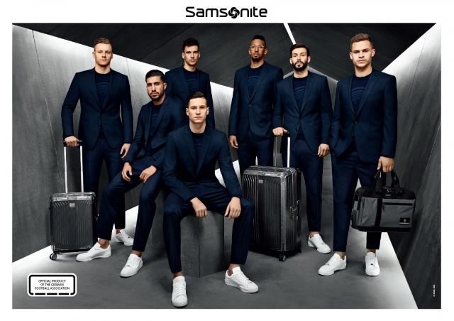 德國國家足球隊聯名箱款預計於6月底開放預購。(Samsonite提供)