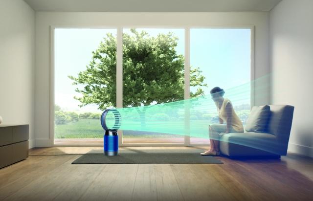 Dyson Pure Cool™智慧空氣清淨機情境圖。(Dyson提供)