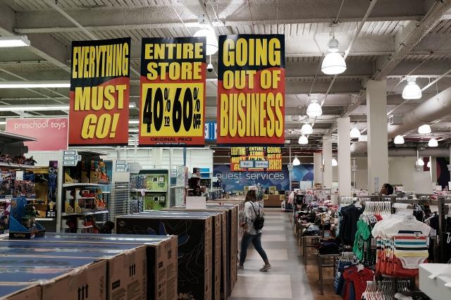 6月29日是美國所有700家玩具反斗城商店開業的最後一天。(Spencer Platt/Getty Images)