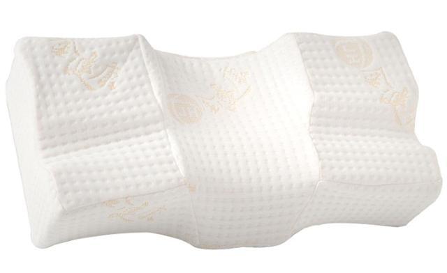 金健康3D伸展減壓舒頸枕,側睡仰睡皆適合。(鉅豪國際提供)