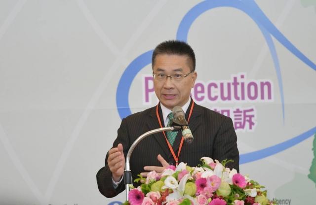 內政部長徐國勇期盼人口販運跨國合作零時差。(內政部提供)
