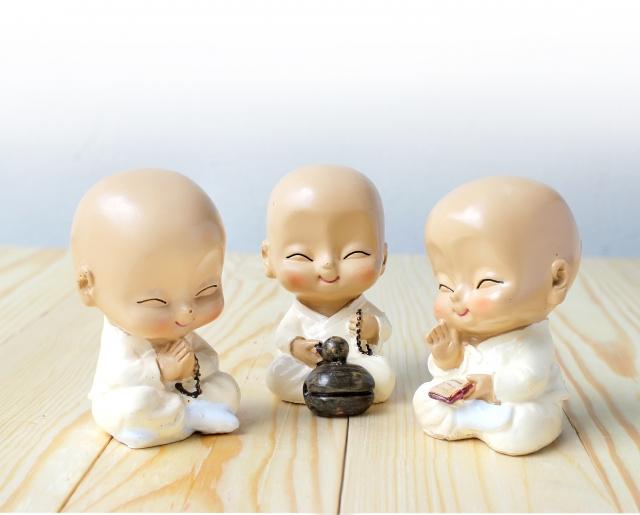 來世希望出生就做小沙彌,要好好修行!(Fotolia)