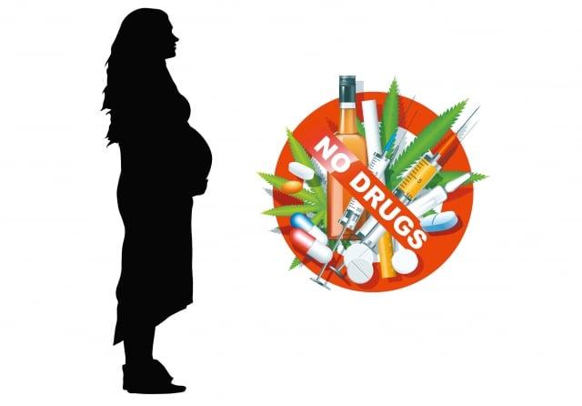 女性在懷孕期間使用海洛因或是安非他命等毒品,對於子宮內發育中的寶寶有影響發展,國內近期研究發現早產、死產,以及低體重風險都偏高。(123RF_合成圖)