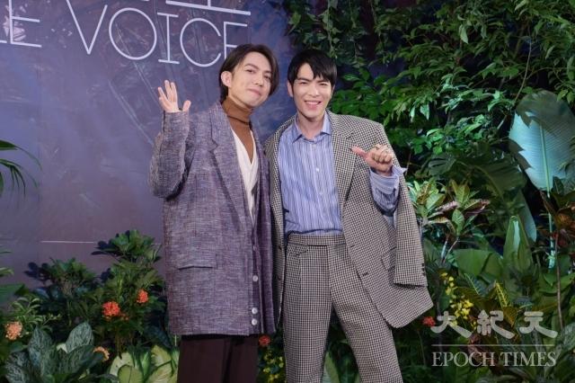 林宥嘉(左)、蕭敬騰(右)22日出席選秀節目記者會。(記者黃宗茂/攝影)