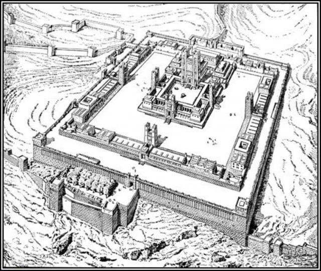 19世紀繪製的第三聖殿想像圖。(維基百科)