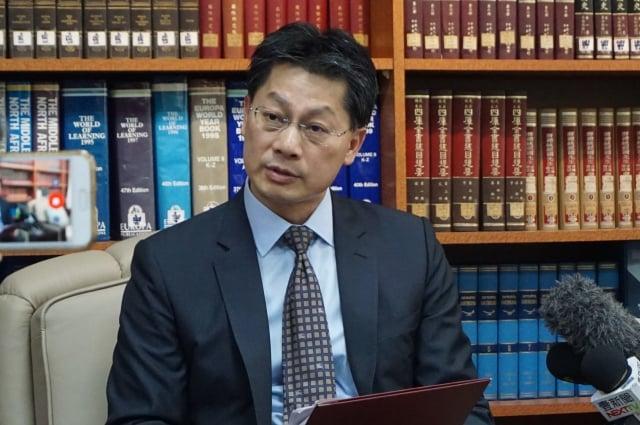 有關泰國簽證費調漲,外交部發言人李憲章8月28日對此作出回應。(記者李怡欣/攝影)