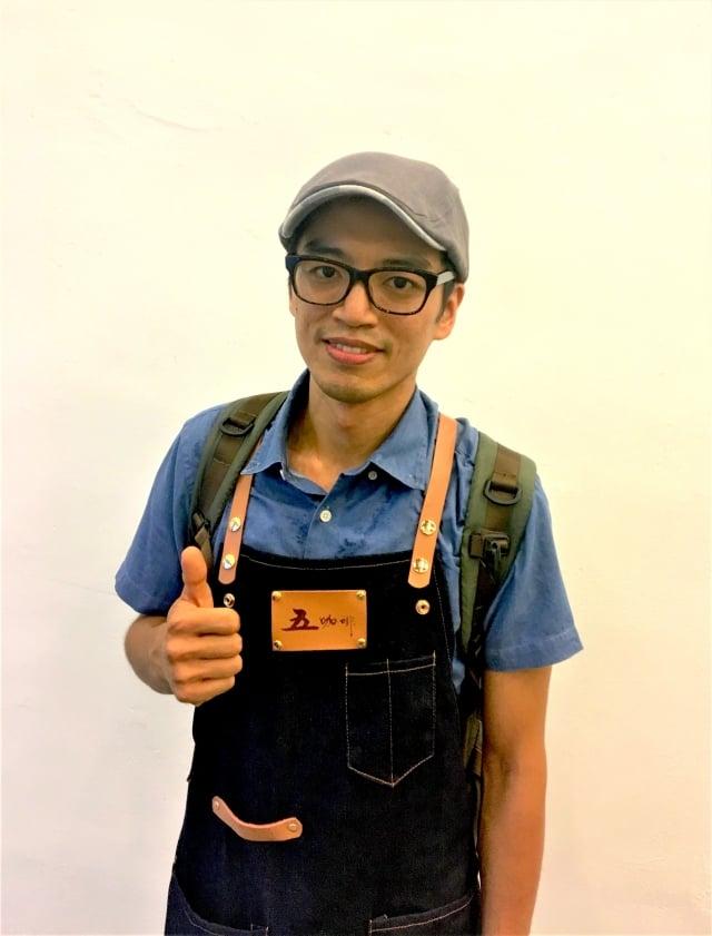 金盃獎手沖組獲獎店家「五咖啡」,參賽咖啡師:吳金霖。